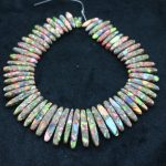 New Beautiful Rainbow Stone Necklace Point Pendant Beads, Top Drilled Women Fashion <b>Jewelry</b> Spike DIY <b>Making</b> Finding Gems