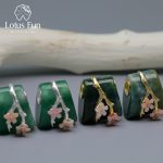 Lotus Fun Real 925 Sterling <b>Silver</b> Natural Aventurine Gemstone Creative Fine Jewelry Vintage Plum Flower Pedant without <b>Necklace</b>