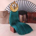 25cm Retro Bronze Silk Tassels Diy For Tassels Earring Pendant Long Fringed Ribbon Knot Satin Tassel Trim <b>Jewelry</b> <b>Accessories</b>