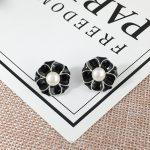 New Earl Flower Pearl Stud Earring Mounts 925 Sterling Silver Ceramics Earring Girl Oyster Pearl <b>Jewelry</b> <b>Making</b> Accessories