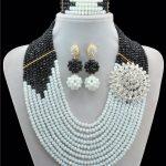 Black White Ancient Classic 2016 New Arrival Nigerian Wedding African Beads <b>Jewelry</b> Set Indian Bridal <b>Jewelry</b> Set 10033