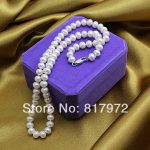 Top Real pearl Bead 45cm length Natural pearl AAA 8-9mm highlight Fashion pearl <b>Handmade</b> Necklaces women <b>Jewelry</b> Party Gift