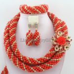 <b>Handmade</b> Statement Necklace Indian African Wedding <b>Jewelry</b> Sets Nigerian Beaded Wedding Bridal Necklace <b>Jewelry</b> Set HD7161