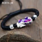 BOEYCJR 999 Sterling <b>Silver</b> Lucky Discolored Brave Troops Braided Rope Energy Bangles & Bracelets for Men & Women <b>Jewelry</b> 2018