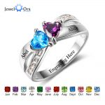 Promise Rings Personalized <b>Jewelry</b> Engrave Name Custom Birthstone Ring 925 Sterling Silver Rings For Women(JewelOra RI102504)