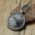 Talisman Hexagram Solomon Amulet Pendant Necklace kabbalah Hermetic <b>Jewelry</b>