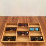 Bamboo Wood Glasses Display Box <b>Jewelry</b> Stand Holder Storage Case Retro Trend Fashion High-end Glasses Display <b>Supplies</b> Rack