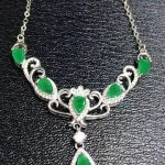 Natural green emerald Necklace Natural Gemstone Pendant Necklace 925 sliver women Luxury trendy Crown women party fine <b>Jewelry</b>