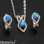 Lovely Australian Fire Opal Sets 925 Sterling <b>Silver</b> <b>Earrings</b> Pendant Necklace Set Women Wedding Gift Pretty Girls Jewelry