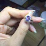 Natural blue tanzanite stone Ring Natural gemstone ring 925 <b>sterling</b> <b>silver</b> trendy elegant Exquisite Square women party <b>Jewelry</b>