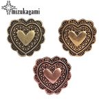 4pcs/lot 20MM Retro Zinc Alloy Sweet Small Heart Bronze/Gold/Rose Gold <b>Decorative</b> Buttons Charms For DIY <b>Jewellery</b> Accessories