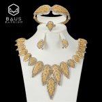 BAUS 2018 Nigeria Dubai parure bijoux femme Arabia Wedding Women <b>Jewelry</b> Sets Fashion African Beads <b>Jewelry</b> Set Wholesale Design