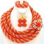 Luxury Wedding Fashion Bridal <b>Jewelry</b> Set <b>Handmade</b> Crystal Beads <b>Jewelry</b> African Women Fashion <b>Jewelry</b> New Free Shipping ABY352