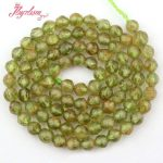 4mm Faceted Round Bead Green Peridot Natural Stone Beads For DIY Necklace Bracelets Earrings <b>Jewelry</b> <b>Making</b> 15″ Free Shipping