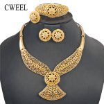 CWEEL African Beads <b>Jewelry</b> Set Indian Bridal <b>Jewelry</b> Sets For Women Water Drop Vintage Costume Nigerian Wedding Jewerly Sets