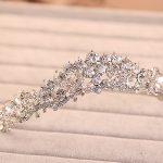 bride wedding crown hair <b>jewelry</b> bijoux women Tiara Headband head crystal rhinestone hair accessories tiara wedding noiva tiara