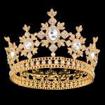 Gold Color Bridal Tiaras Crowns Full Crystal Rhinestone Sun Flower <b>Wedding</b> Hairband Crown for Women Hair <b>Jewelry</b> Accessories