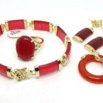 Prett Lovely Women's Wedding New <b>Jewelry</b> Red gem Dragon Pendant Necklace Ring Bracelet Earring Set 5.23 silver-<b>jewelry</b> moda