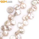 "Gem-inside Natural Top Drilled White Purple Black Coin Freshwater Cultured Pearls Beads for <b>Jewelry</b> <b>Making</b> 15"" DIY <b>Jewelry</b>"