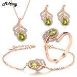MoBuy 5pcs Peridot Natural Gemstone 4pcs <b>Jewelry</b> Sets 100% 925 <b>Sterling</b> <b>Silver</b> For Women Engagement Fine <b>Jewelry</b> V045EHNR