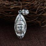 FNJ 925 Silver Buddha Pendant 100% Pure S925 Solid Thai Silver Pendants for Women Men <b>Jewelry</b> <b>Making</b>
