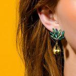 eManco Green Crystal Drop Dangle Pineapple Earrings Luxury Style <b>Fashion</b> <b>Jewelry</b> 2017 New Cloth Accessories