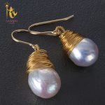 [NYMPH] Freshwater Pearl <b>Earrings</b> For Women Fine Jewelry Big Natural Baroque Pearl <b>Earrings</b> Fashion Gift For Party E301