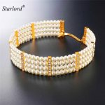 Starlord Vintage Choker Pearl <b>Necklace</b> Trendy <b>Jewelry</b> Gold Color Fashion Multilayer Pearl <b>Necklaces</b> For Women N2551K