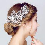 Gorgeous pearl hair combs floral bridal headbands women pearls <b>jewelry</b> hairband hair ornaments bride tiaras wedding accessories