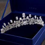 Pear-Cut Zircon Stone Crown Princess Brides <b>Wedding</b> Tiara AAA Cubic Zirconia Hair <b>Jewelry</b> Coronet Girl Headpiece Ornaments Gifts