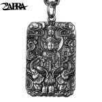 ZABRA Religion Pure 990 <b>Sterling</b> <b>Silver</b> Buddha Patron Saint Pendant Men Vintage Retro Chinese Zodiac Signs <b>Jewelry</b> For Male