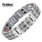 Hottime <b>Fashion</b> <b>Jewelry</b> Healing Magnetic Stainless Steel Bio Energy Bracelet For Men Blood Pressure Accessory Silver Bracelets