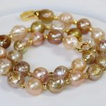 FREE SHIPPING>>Natural reborn keshi Pearl 12-14mm baroque For <b>Jewelry</b> <b>Making</b> 18inch necklace