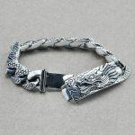 925 Sterling <b>Silver</b> Couple Retro Dragon <b>Bracelet</b> & Bangle Men Vintage Punk Rock <b>Bracelets</b> Biker Gothic Jewelry Pulsera Hombre