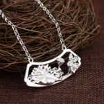 925 Silver Lotus Flower Pendant Necklace for Women Accessorice 45cm Link Chain S925 Thai Solid Silver <b>Jewelry</b> <b>Making</b> Necklaces