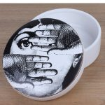 Nordic simplicity <b>jewelry</b> storage box fornasetti Hepburn earrings pendant necklace collective <b>Supplies</b> craft high-end ceramic