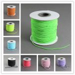 2mm Round Elastic Cord <b>Jewelry</b> Findings for <b>Jewelry</b> <b>Making</b> DIY with Nylon Outside and Rubber Inside,40m/roll