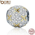BAMOER <b>Fashion</b> New 925 Sterling Silver Firefly Lightning Bug Silver & Gold Color Beads fit Charm Bracelet <b>Jewelry</b> Gift SCC154