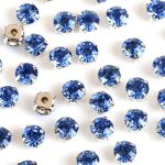 Lt.Sapphire blue color Crystal DIY Stone With Metal silver Gold Claw Claw Setting For Sewing On <b>Jewelry</b>,Dress,Clothes <b>making</b>