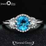 Natural Stone Ring Fashion Party Ring 925 Sterling Silver <b>Jewelry</b> for Women Come With Box (JewelOra RI101316)