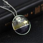 Lotus Fun Real 925 Sterling <b>Silver</b> Natural Fluorite Handmade Fine <b>Jewelry</b> Pavilion and Plum Tree Pendant without Chain for Women