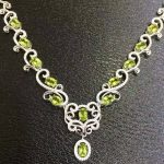 Natural green peridot Necklace natural olivine Pendant Necklace S925 <b>silver</b> Luxury fashion surround Flowers women gift <b>Jewelry</b>