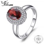 JewelryPalace Classic 1.9ct Natural Red Garnet Halo Anniversary Engagement Ring 925 Sterling <b>Silver</b> Brand Fine <b>Jewelry</b> For Women