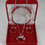 shitou 00480 Fashion <b>jewelry</b> red <b>necklace</b> pendants, earrings, bracelets Set