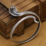 NEW! Handmade Thai <b>Silver</b> Snake Bangle Real 925 <b>Silver</b> Surpent Bangle Vintage <b>Sterling</b> <b>Silver</b> Snake Women Bangle <b>Jewelry</b> Gift