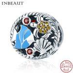 INBEAUT Women <b>Jewelry</b> <b>Making</b> 100% Real 925 Sterling Silver Ocean Sea Crab Shell Fish Beads fit Pandora Bracelet DIY Gift