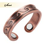Vivari 2017 <b>Antique</b> Copper Wave Pattern Magnetic Trendy Women Ring Resizable Female Magnets Ladies <b>Jewelry</b> Charm Finger Wear