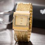 CUSSI Fashion Luxury Women's Wristwatches Gold/Rose gold/<b>Silver</b> Tassels Chain <b>Bracelet</b> Watches Plated High Quality Dress Clock