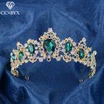 CC Tiaras And Crowns Hairband luxury Baroque Style Shine CZ Wedding Hair Accessories For Bride Engagement <b>Handmade</b> <b>Jewelry</b> HG741