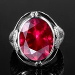 Genuine 925 <b>Sterling</b> <b>Silver</b> Ring Created Ruby Egg Stone for Men Vintage Hollowed Flower Women Party Cocktail Ring Fine <b>Jewelry</b>